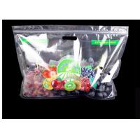 Buy cheap Transparent Plastic Fruit Saver Bags Reusable Handle Custom Design from wholesalers