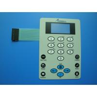 Buy cheap Custom Waterproof Membrane Switch Panel Flexible Keyboard With 3m Adhesive from wholesalers