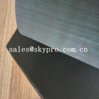 Black High Tensile Rubber Soling Sheets W Wave Pattern Natural Gum Rubber Sheet For Shoe Sole Material Manufactures