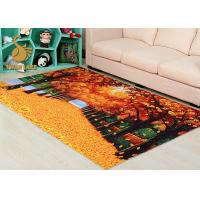 China Easy Clean Nonwoven Oriental Style Rugs With Dots Back Short Plush Carpet on sale