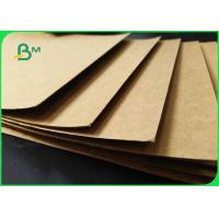 Buy cheap FSC Unbleached Natural Brown Kraft Liner Board 350gsm 70 X 100cm In Sheet from wholesalers