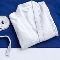 China Soft Touch Hotel Spa Robes Linen Luxurious 100% Turkish Cotton Embroidered Pajamas on sale