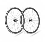 Buy cheap 38mm clincher 38C road bike carbon front wheel 23mm width UD/3K matte aero spokes alloy nipples basalt rim brake from wholesalers