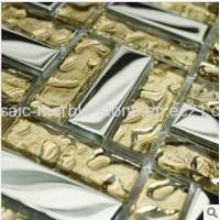 Wholesale Gold and Silver Color Plating Glass Mosaic Tile 15*48*8mm from china suppliers