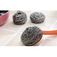 Buy cheap Kitchen Cleaning Stainless Steel Scrubber Pads Sliver Color With Plastic Handle from wholesalers