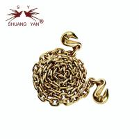 Buy cheap Gold-Galvanized G80 Lifting Chain, Grade 80 Alloy Chain With Single/Double Clevis Grab Hooks from wholesalers