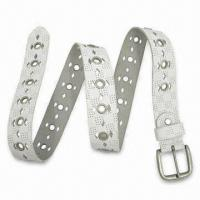 Buy cheap Punched Out Leather Belts with Diamond Shape from wholesalers