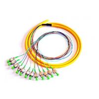 Buy cheap 12 color 0.9mm 2.0M 3.0MM length 1m 2M 5M FC SC UPC SM 12 core fiber optic breakout cable pigtail from wholesalers