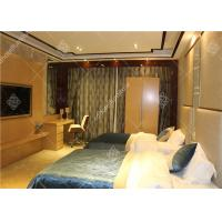 Buy cheap Hotel Wooden Bed Room Furniture With Wardrobe , Table and Luggage Rack from wholesalers