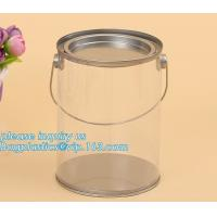 Buy cheap 100ml pet clear plastic can,fruit candy tin container jars with aluminum lid,1 gallon clear paint can size bagease pack from wholesalers
