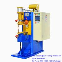 Buy cheap MF-50KVA Factory Price Small Size Inverter DC Spot Welder with save energy transformer, blue and yellow color from wholesalers