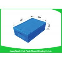Buy cheap Stackable Plastic Pallet Boxes PP Material , Folding Plastic Crates Transport Moving from wholesalers