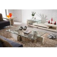 Buy cheap New Design Fashionable Marble Coffee Table Furniture With Tempered Glass Top (D8817#) from wholesalers