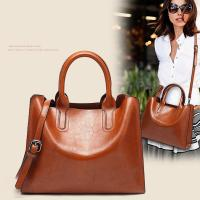 Buy cheap 2019 New Bag For Women European And American Simple Oil And Wax Leather Single Shoulder Tote Bag For Women from wholesalers