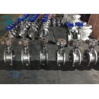Buy cheap Metal Seated Butterfly Valve High Performance Double Flange End Triple Eccentric Worm Gear from wholesalers