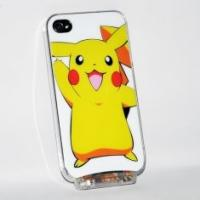 Buy cheap OEM customed cartoon LED phone cover cases with cute yellow pikachu design for iPhone from wholesalers