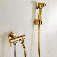 Buy cheap Antique Golden Bidet Tap Brass Pressurize Hand Shower Bathroom Tap DB146 from wholesalers