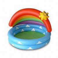 Buy cheap Inflatable Swimming Pool, Sized 105cm with 0.2 to 0.25mm PVC Thickness from wholesalers