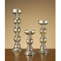 Buy cheap Elegant design hand painted glass pedestal candle holders for dinning table top, bathroom from wholesalers