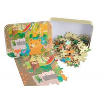 Buy cheap Adjustable Puzzle Board Games For Adults Customized Tin Box Linen Texture On Surface from wholesalers