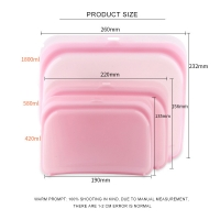 Buy cheap 3 Pack Silicone Food Storage Bags Dishwasher And Microwave Safe from wholesalers
