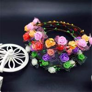 Flower Little Girls Bohemian Floral Headbands Party Wedding Hair Wreaths Hair Band Manufactures