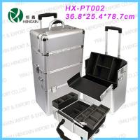 Wholesale Silver Beauty Travel Cosmetics Trolley Case Fashionable Exquisite from china suppliers