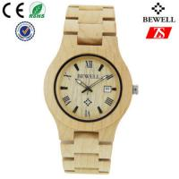 Hign End Men Wooden Strap Watch Waterproof With Japan Battery , OEM ODM Service Manufactures