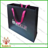 Buy cheap Customized Luxury Brown Kraft Paper Bags For Shopping With Hang Rope from wholesalers
