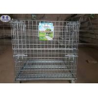 Buy cheap Industrial Welded Steel Wire Container Storage Cages from wholesalers