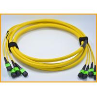 Buy cheap Yellow Aqua Fiber Optic Cable , OS2 PVC Single Mode Fiber Jumpers 0.75dB from wholesalers
