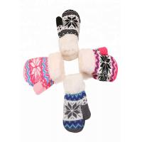 Buy cheap Kids Warm Winter Accessories Knitting Christmas Brushed Deer Pattern Gloves from wholesalers