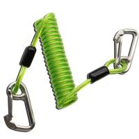 Buy cheap Plastic TPU Coiled Tool Lanyard Double Stainless Steel Carabiner Hooks Green Color from wholesalers