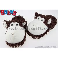 Indoor Shoes Plush Stuffed Animals Puce Monkey Men/Women Comfort Slippers