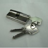 Wholesale 60mm Euro Profile Double Brass Cylinder with 3 brass normal keys from china suppliers