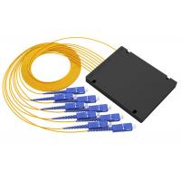 Buy cheap Digital Passive PLC Fiber Optic Splitter 1x8 ABS Box Type With SC / PC Connector from wholesalers