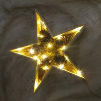 Buy cheap led wood star christmas light fairy led holiday light home decoration table decoration from wholesalers