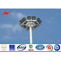 Buy cheap Oil Gas Station 50m Galvanized Three Sections Outdoor Light Pole , ISO9001 from wholesalers