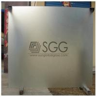 China clear acid etched glass panel 3mm 4mm 5mm 6mm 8mm 10mm 12mm 15mm 19mm on sale