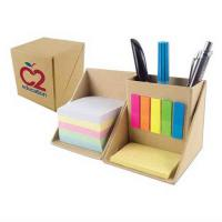 Buy cheap Foldable Personalised Stationery Gifts Cardboard Box With Pen Holder , Sticky Flag from wholesalers
