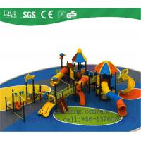 Buy cheap Plastic outdoor playground slides for sale factory, kids slides for playground outdoor from wholesalers