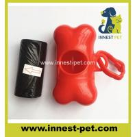 Quality pet products dog waste poop bags with bone dispenser for sale