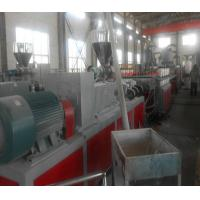 Buy cheap Conical Two Screw Extruder , Wood Plastic Composite / PVC Extruder from wholesalers