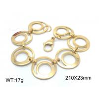 Buy cheap Hollow Out Double Oval Stainless Steel Adjustable Bracelets With Lobster Clasp from wholesalers
