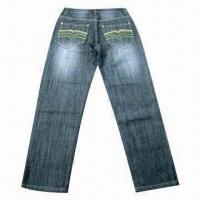 Wholesale Men's Jean, Made of 100% Cotton, Breathable and Water-resistant from china suppliers