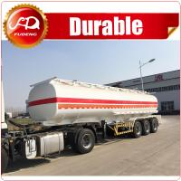 Buy cheap 6 compartments 45000L FUWA axle fuel tanker trailer oil tank semi trailer from wholesalers