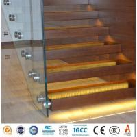 Buy cheap CE certificate frameless balustrade railing glass clear or colored PVB laminated glass price from wholesalers