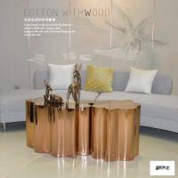 Buy cheap Decorative Modern Lobby Furniture Metal End Table In Golden Finish from wholesalers