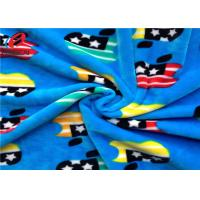 Buy cheap Minky Plush Fabric 1.5mm Long Pile Polyester Custom Printed Velboa Fabric For Baby from wholesalers