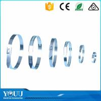 Buy cheap Releasable Stainless Tie Wraps , High Temperature Cable Ties Metal Wire Straps from wholesalers